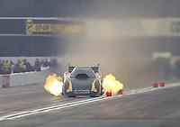 Feb 10, 2017; Pomona, CA, USA; NHRA funny car driver Bob Bode during qualifying for the Winternationals at Auto Club Raceway at Pomona. Mandatory Credit: Mark J. Rebilas-USA TODAY Sports