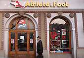 Krakow, Poland. Athlete's Foot sportswear shop.