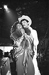 Mary Wilson in her comeback performance with Randy Jones at the Red Parrot Disco on April 26, 1982 in New York City. (Gowns designed by Tony Chase)