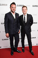 Ant McPartlin and Declan Donnelley<br /> arrives for the Glamour Women of the Year Awards 2016, Berkley Square, London.<br /> <br /> <br /> ©Ash Knotek  D3130  07/06/2016