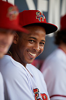 Harrisburg Senators Khayyan Norfork (15) before a game against the Erie SeaWolves on August 29, 2018 at FNB Field in Harrisburg, Pennsylvania.  Harrisburg defeated Erie 5-4.  (Mike Janes/Four Seam Images)
