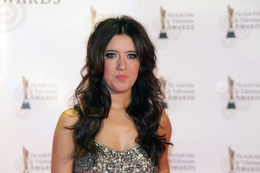 12/2/11 Lottie Ryan on the red carpet at the 8th Irish Film and Television Awards at the Convention centre in Dublin. Picture:Arthur Carron/Collins
