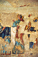 Twelfth Century Romanesque fresco from the Apse of the church of Santa Maria de Mur, Casrell de Mur, Pallars Jussa, Spain. Painted around 1150. National Art Museum of Catalonia, Barcelona. MNAC 68710