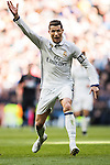 Cristiano Ronaldo of Real Madrid reacts during their La Liga match between Real Madrid and Granada CF at the Santiago Bernabeu Stadium on 07 January 2017 in Madrid, Spain. Photo by Diego Gonzalez Souto / Power Sport Images