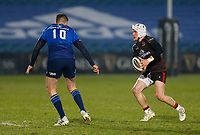 8th January 2021; RDS Arena, Dublin, Leinster, Ireland; Guinness Pro 14 Rugby, Leinster versus Ulster; Michael Lowry of Ulster tries to get the ball to the outside
