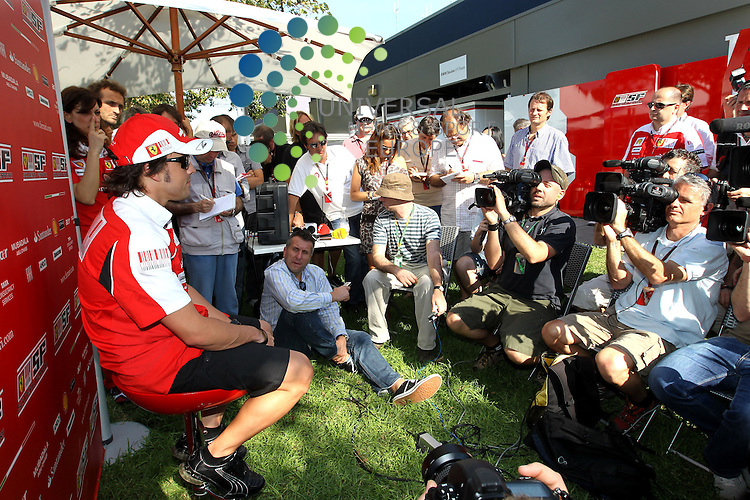 F1 GP of Australia, Melbourne 26. - 28. March 2010.Fernando Alonso (ESP),  Scuderia Ferrari ..Picture: Hasan Bratic/Universal News And Sport (Europe) 26 March 2010.