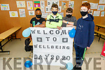 CBS students Matthew Arryibi, Jake Rochford, Cian Harris and Conor Flaherty supporting the Well Being Day 2020 in CBS on Friday.