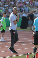 Ratlos ? Trainer Adi Huetter (Eintracht Frankfurt)#, SSV Ulm 1846 - Eintracht Frankfurt, Football, DFB-Pokal,round 1, 18.08.2018<br />DFB RULES PROHIBIT USE IN MMS SERVICES VIA HANDHELD DEVICES UNTIL TWO HOURS AFTER A MATCH AND ANY USAGE ON INTERNET OR ONLINE MEDIA SIMULATING VIDEO FOOdayE DURING THE MATCH. *** Local Caption *** © pixathlon<br /> Contact: +49-40-22 63 02 60 , info@pixathlon.de