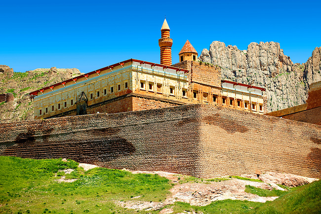18th Century Ottoman architecture of the Ishak Pasha Palace (Turkish: İshak Paşa Sarayı) ,  Ağrı province of eastern Turkey.