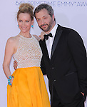 Leslie Mann and Judd Apatow at The 64th Anual Primetime Emmy Awards held at Nokia Theatre L.A. Live in Los Angeles, California on September  23,2012                                                                   Copyright 2012 Hollywood Press Agency