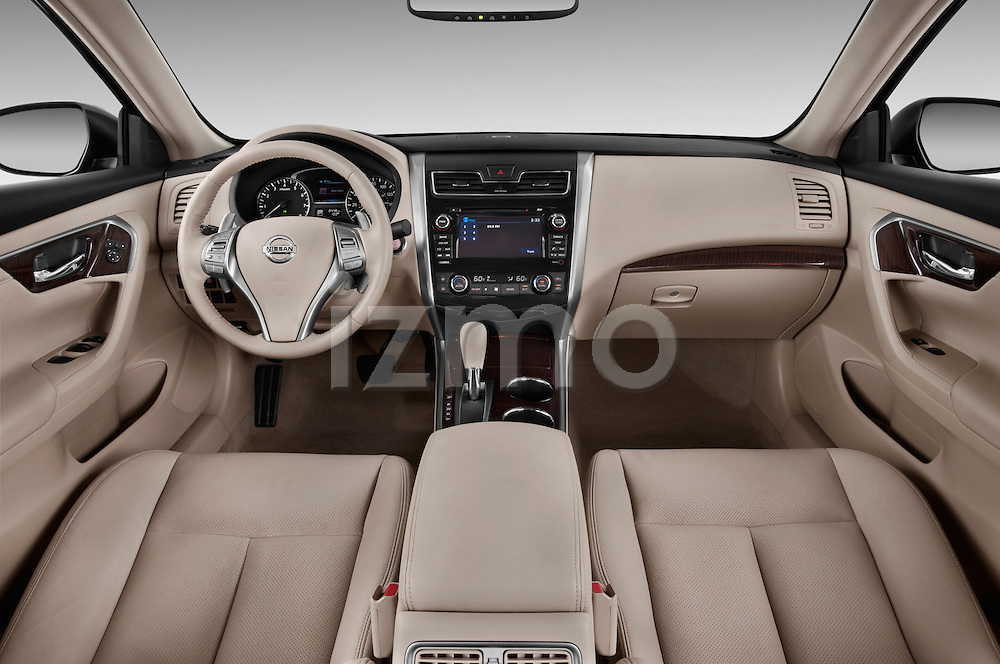 2013 Nissan Altima SL Sedan Straight Dashboard View Stock Photo