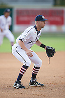 High Point-Thomasville HiToms third baseman Drew Ellis (29) on defense against the Asheboro Copperheads at Finch Field on June 12, 2015 in Thomasville, North Carolina.  The HiToms defeated the Copperheads 12-3. (Brian Westerholt/Four Seam Images)