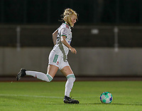 Linde Veefkind (25) of OHL in action during a female soccer game between FC Femina White Star Woluwe and Oud Heverlee Leuven on the fourth matchday in the 2021 - 2022 season of Belgian Scooore Womens Super League , Friday 10 th of September 2021  in Woluwe , Belgium . PHOTO SPORTPIX   SEVIL OKTEM