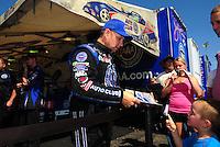 May 22, 2011; Topeka, KS, USA: NHRA funny car driver Robert Hight during the Summer Nationals at Heartland Park Topeka. Mandatory Credit: Mark J. Rebilas-