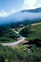 bei Obersaxen, Vorderrhein, Graubünden, Schweiz