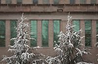 EASTON, PA Various Campus Winter Snow Scenes