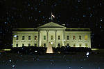 Snow falls at the White House during the record-breaking winter of 2009-2010.