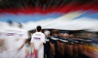 Kosarka FIBA Olympic Basketball Qualifying Tournament-FINAL<br /> Serbia v Puerto Rico<br /> Milos Teodosic zastava flag<br /> Beograd, 09.07.2016.<br /> foto: Srdjan Stevanovic/Starsportphoto©