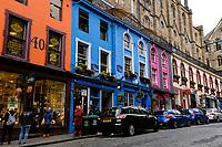 Edinburgh, colored houses of Victoria Street<br /> Scotland May 8th - 19th. Trip across Scotland<br /> Foto Samantha Zucchi Insidefoto