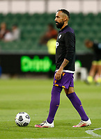 18th April 2021; HBF Park, Perth, Western Australia, Australia; A League Football, Perth Glory versus Wellington Phoenix; Diego Castro of the Perth Glory during the warm ups