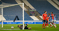 7th November 2020 The John Smiths Stadium, Huddersfield, Yorkshire, England; English Football League Championship Football, Huddersfield Town versus Luton Town; Fraizer Campbell of Huddersfield Town celebrates  as Carel Eiting of Huddersfield Town makes it 1-1