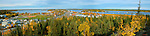 Panorama of Yellowknife's Old Town in the fall
