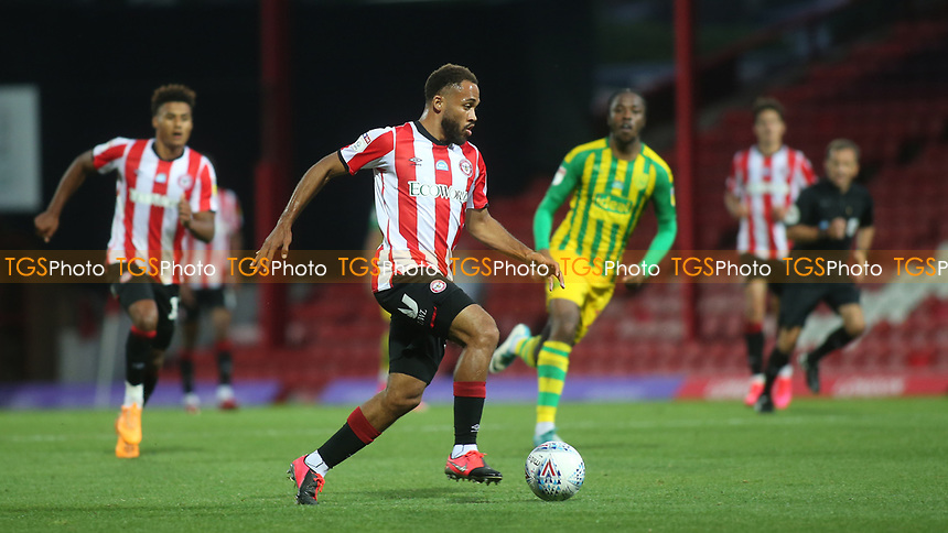 Bryan Mbeumo of Brentford in action during Brentford vs West Bromwich Albion, Sky Bet EFL Championship Football at Griffin Park on 26th June 2020