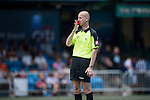 Mike Riley is the referee during the match KCC Veterans vs Yau Yee League Masters during the Masters tournament of the HKFC Citi Soccer Sevens on 22 May 2016 in the Hong Kong Footbal Club, Hong Kong, China. Photo by Lim Weixiang / Power Sport Images