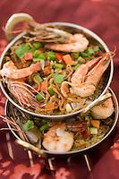 Afrique/Afrique de l'Est/Tanzanie/Zanzibar/Ile Unguja/Kiwenga: Pilau de Crevettes et riz aux épices de l'ile recette de Jörg Lehmann chef de l'Hotel Zamani Zanzibar Kempinski