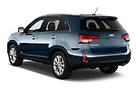 Car pictures of rear three quarter view of a 2015 KIA Sorento EX V6 AT 5 Door Suv 2WD Angular Rear