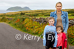 Residents in Dún Chaoin are leading the campaign by Comharchumann Dhún Chaoin for a new playground, following a refusal by the OPW to make a quarter acre site available on lease. L to r: Louise Thompson, Siún and Ellie Ní Fhlatharta.