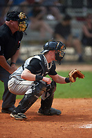 St. Olaf Oles catcher Andy Reiter (19) during the first game of a doubleheader against the Union Dutchmen on February 20, 2016 at Lake Myrtle Park in Auburndale, Florida.  Union defeated St. Olaf 7-2.  (Mike Janes/Four Seam Images)