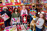 The staff of Toys Upstairs at Kellihers launch theirSt Vincent de Paul Christmas Toys Appeal in the shop on Monday. Front right: Caragh Kelliher. Back l to r: Ruairi Fry, Treasa Walsh and Marion Moore of St Vincent de Paul and Sharon Teahan (Manager, Toys Upstairs Kellihers).
