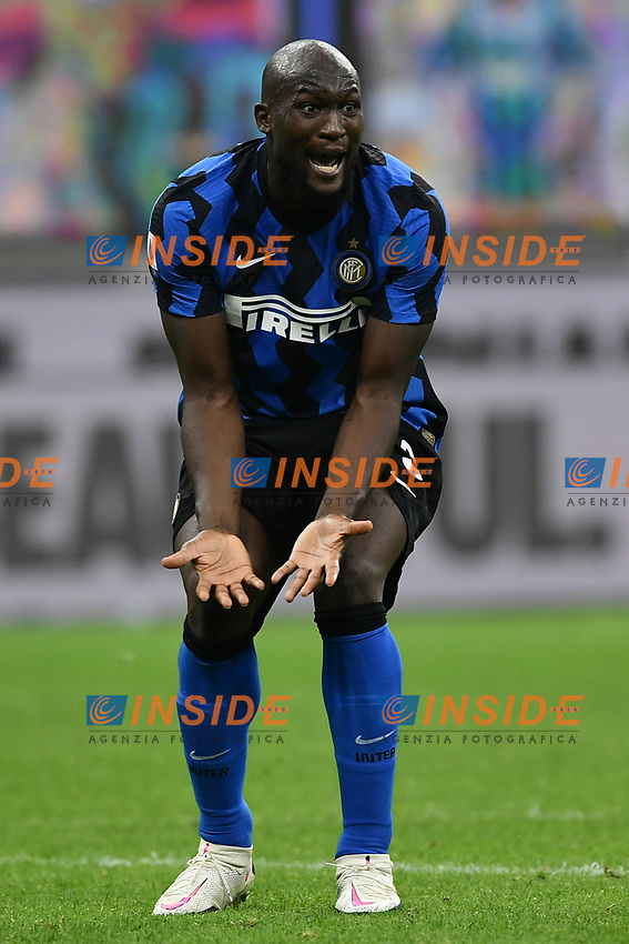 Romelu Lukaku of FC Internazionale looks dejected during the Serie A football match between FC Internazionale and AC Milan at stadio San Siro in Milano (Italy), October 17th, 2020. Photo Image Sport / Insidefoto