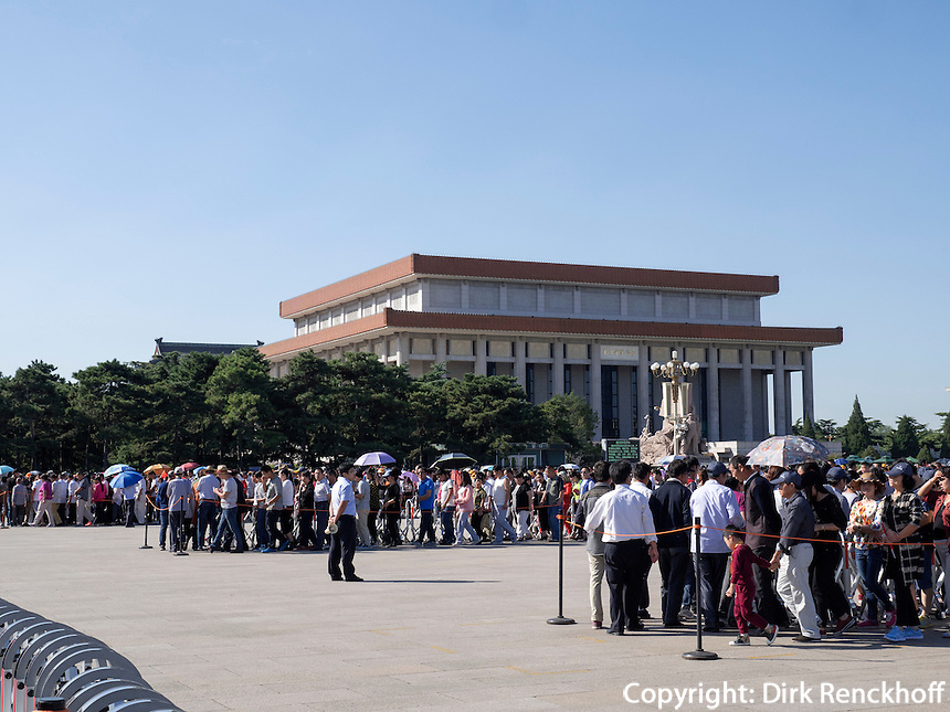 Mao-Mausoleum auf em TianAnMen-Platz, Peking, China, Asien<br /> Mao Mausoleum on TianAnMen square, Beijing, China, Asia