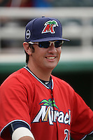 Fort Myers Miracle pitcher Todd Van Steensel (27) before a game against the Tampa Yankees on April 15, 2015 at Hammond Stadium in Fort Myers, Florida.  Tampa defeated Fort Myers 3-1 in eleven innings.  (Mike Janes/Four Seam Images)