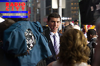 Quarterback Andrew Luck (Stanford) on the red carpet during the 2012 NFL Draft at Radio City Music Hall in New York, NY, on April 26, 2012.