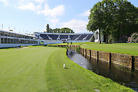 Wentworths 18th green and grandstand during the BMW PGA Golf Championship at Wentworth Golf Course, Wentworth Drive, Virginia Water, England on 27 May 2017. Photo by Steve McCarthy/PRiME Media Images.