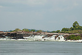 Xingu River, Para State, Brazil. The Volta Grande; Jericoá waterfall cachoeira. This part of the river will lose its water because of the construction of the Belo Monte hydroelectric dam, the world's third largest.