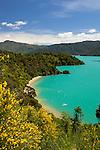 New Zealand, South Island, Marlborough Region, near Picton: Governor's Bay on Queen Charlotte Sound | Neuseeland, Suedinsel, Marlborough Region, bei Picton: Governor's Bay am Queen Charlotte Sound