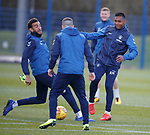 02.04.2019 Rangers training: Connor Goldson and Alfredo Morelos