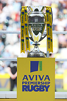 The Premiership Rugby trophy on display at the Premiership Rugby Final at Twickenham Stadium on Saturday 27th May 2017 (Photo by Rob Munro)