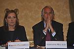 BARBARA PALOMBELLI CON GIOVANNI MALAGO'<br /> PREMIO GUIDO CARLI - SECONDA EDIZIONE<br /> PALAZZO DI MONTECITORIO - SALA DELLA REGINA ROMA 2011