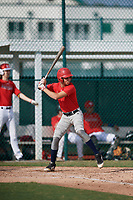 Anderson Matos (61), from Pembroke Pines, Florida, while playing for the Cardinals during the Baseball Factory Pirate City Christmas Camp & Tournament on December 30, 2017 at Pirate City in Bradenton, Florida.  (Mike Janes/Four Seam Images)