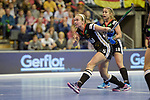 Berlin, Germany, February 10: During the FIH Indoor Hockey World Cup quarterfinal match between Germany (black) and Poland (red) on February 10, 2018 at Max-Schmeling-Halle in Berlin, Germany. Final score 3-1. (Photo by Dirk Markgraf / www.265-images.com) *** Local caption *** Viktoria HUSE #5 of Germany