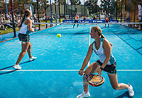 Netherlands, September 6,  2020, Amsterdam, Padel Dam, NK Padel, National Padel Championships, Final womans double:  Tess van Dinteren (NED) and Milou Ettekoven (R) (NED) <br /> Photo: Henk Koster/tennisimages.com