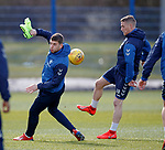 02.04.2019 Rangers training: Jon Flanagan and Steven Davis