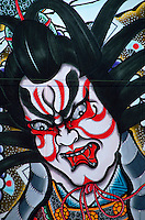 Detail of painting on festival float, Hirosaki, Japan