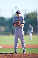 Sam Griffeth (48), from Winamac, Indiana, while playing for the Tigers during the Under Armour Baseball Factory Recruiting Classic at Red Mountain Baseball Complex on December 28, 2017 in Mesa, Arizona. (Zachary Lucy/Four Seam Images)