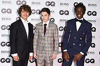 Gaten Matarazzo, Finn Wolfhard and Caleb McLaughlin<br /> arriving for the GQ's Men of the Year Awards 2017 at the Tate Modern, London<br /> <br /> <br /> ©Ash Knotek  D3304  05/09/2017